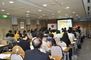 小野塚久枝先生、世界平和大使協議会にて講演「家族の絆と税制」
